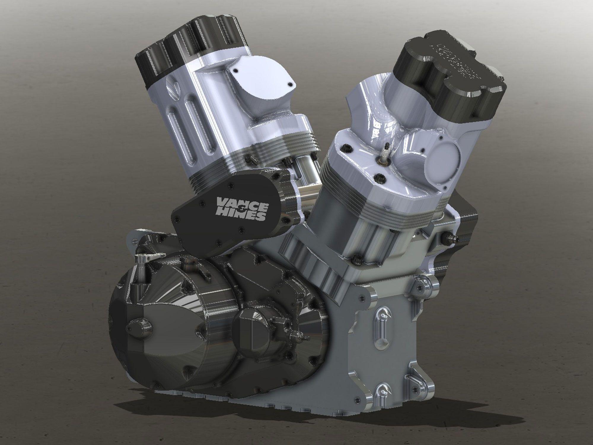 Ook op het gebied van dragracen is V&H druk bezig geweest met de lancering van twee nieuwe racemotoren, waaronder deze 400 pk sterke VH160VT V-twin.