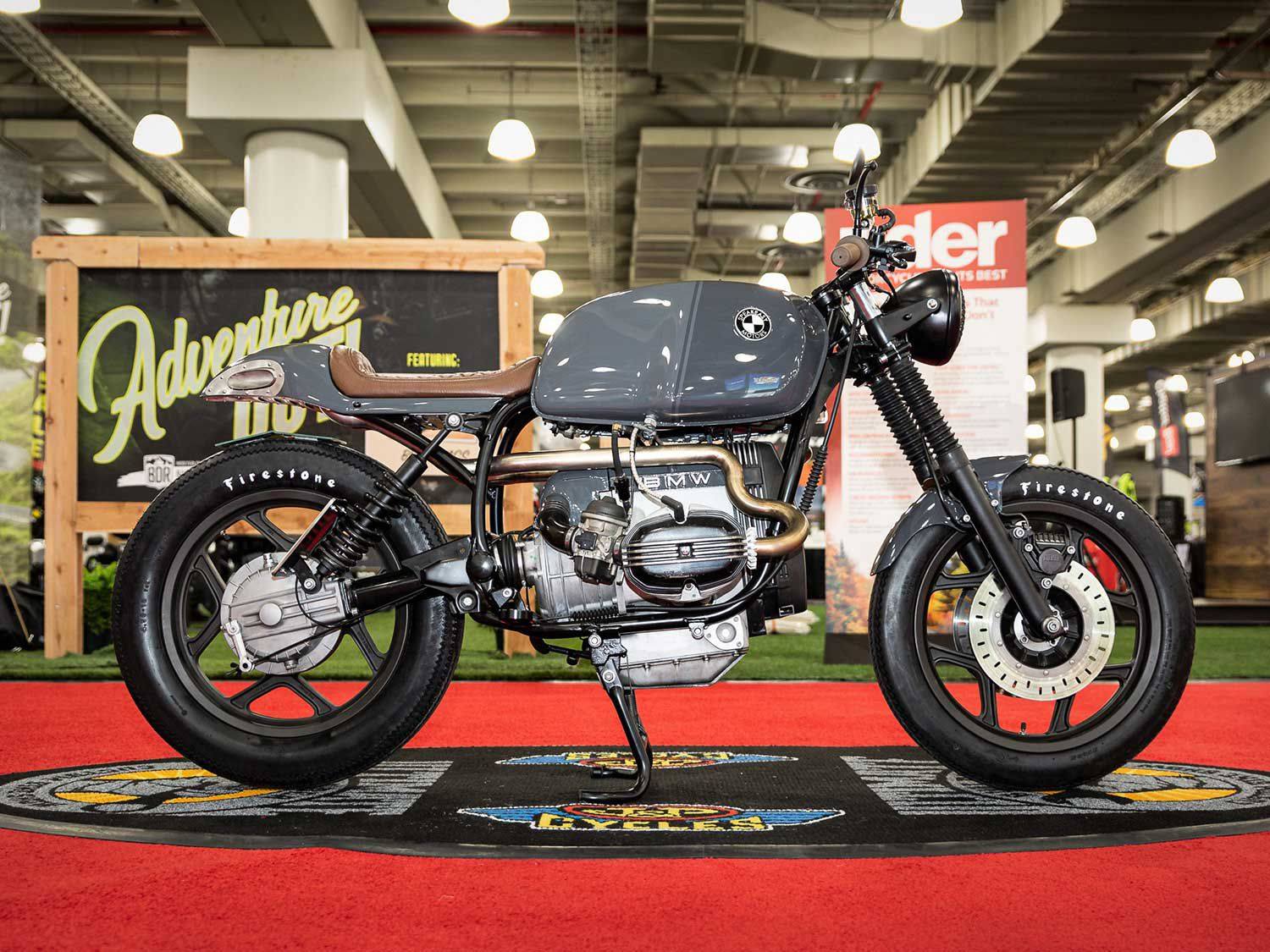 New York-based Evan Favaro of Speakeasy Motors grabbed first place in Custom Classic with a 1991 BMW R100RT café racer custom packing a stainless steel exhaust and a handmade custom tailsection, stripped frame, and more.