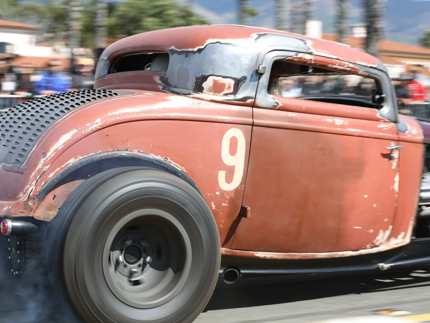 The cars may be pre-1953 but they can still burn some rubber.