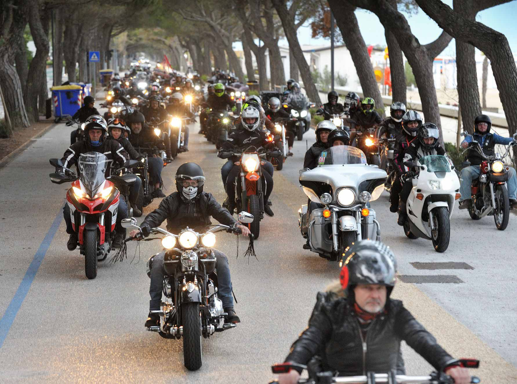Thousands of riders participate in Biker Fest's closing event, the Parade of Lights.