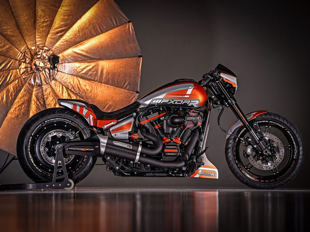 """Some of the national winners for 2019 have already been determined. In Germany, Thunderbike Harley-Davidson Niederrhein is a finalist for its FXDR 114 custom, """"Roar,"""" which features a Screamin' Eagle Stage 3 kit, lowered chassis, and Metzeler 260mm tire."""