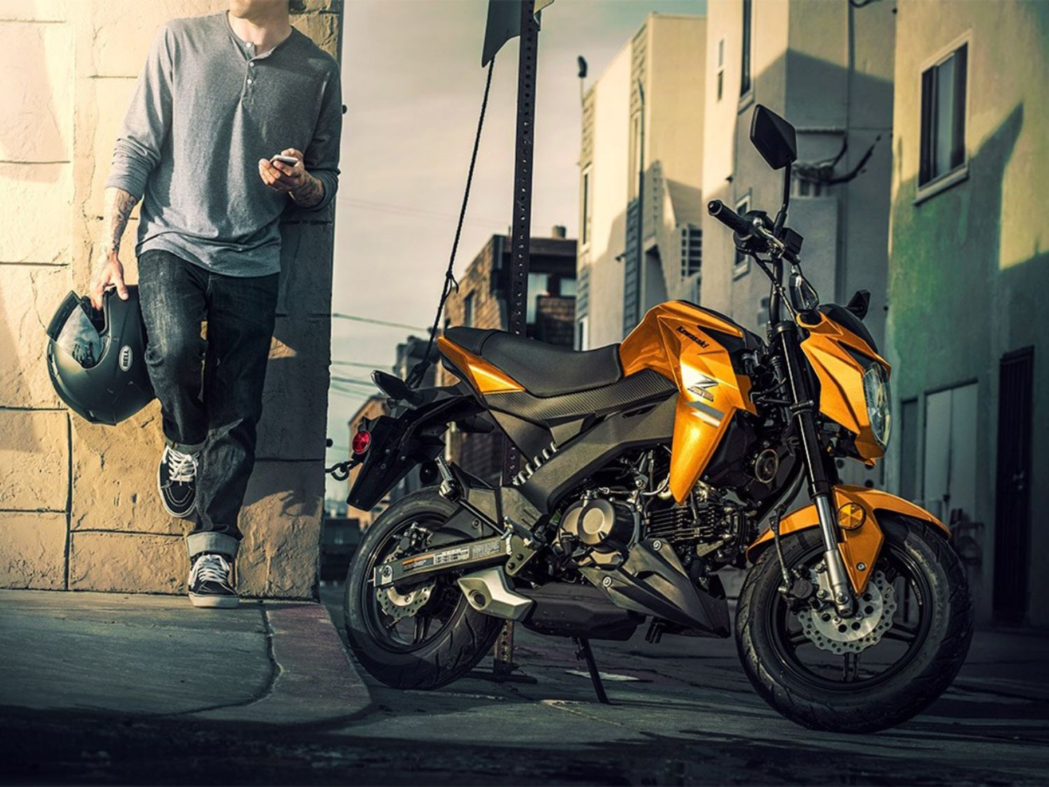 The Z125 takes the Grom's best attributes and puts its own spin on them, with a bigger tank, taller seat and greater lean angle.