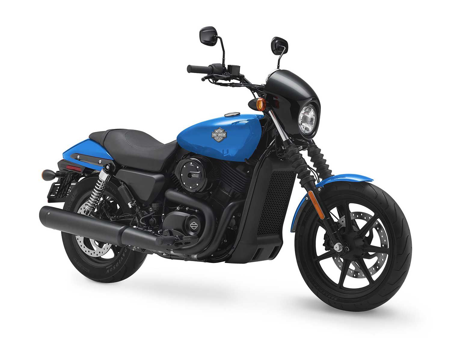 Harley's entry-level Street model is designed for the global market, with a light weight easy maneuverability and an easy buy-in.