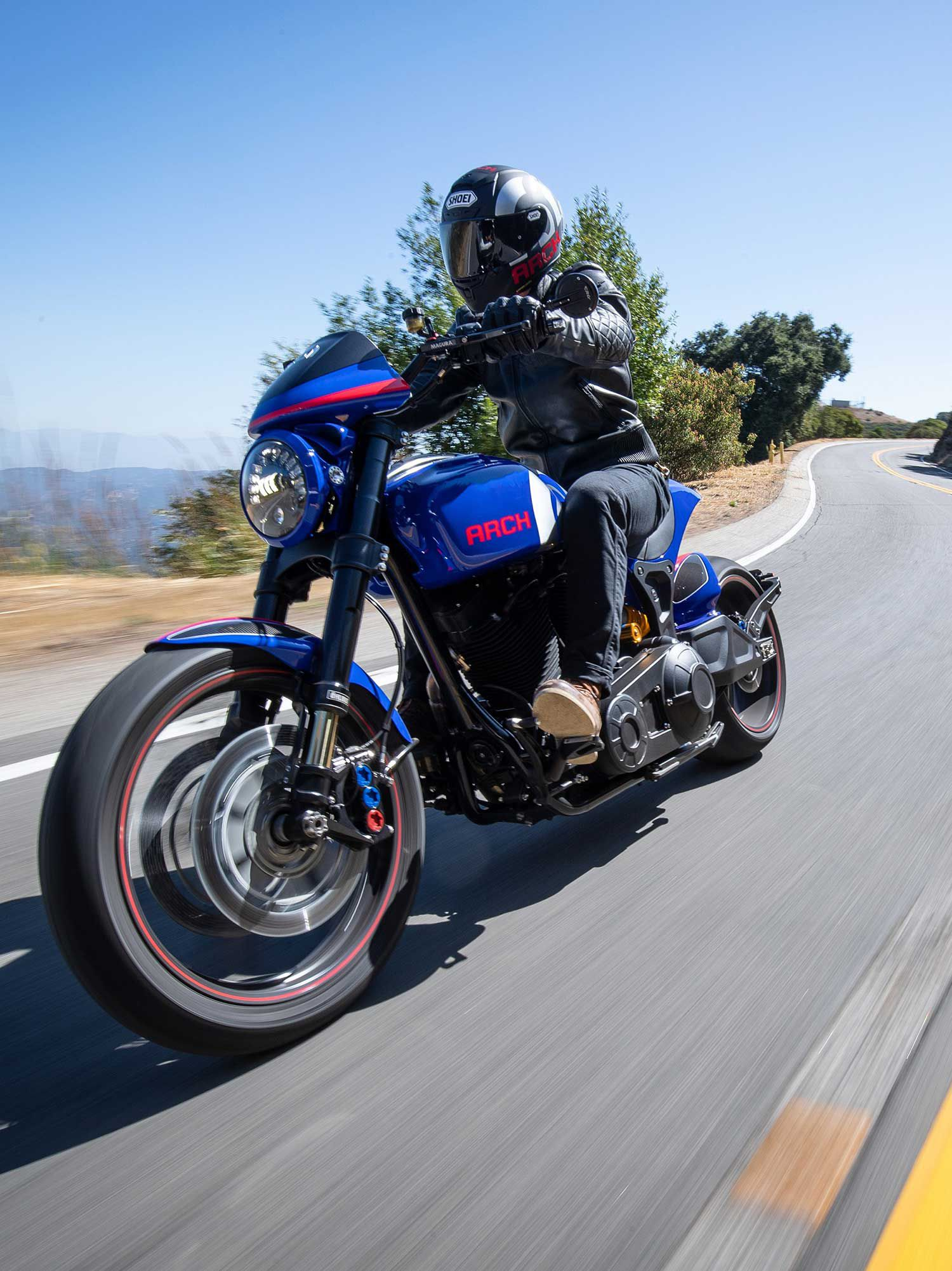 The latest KRGT-1 mixes roadster with touches of café racer, but at its heart is still that monster S&S 124ci V-twin motor that screams hot rod.