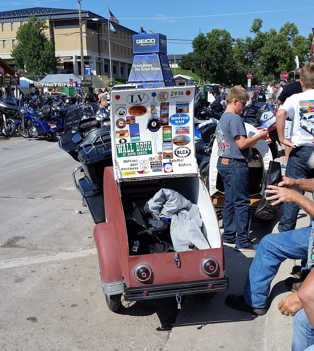 Don't forget to pack a fuel bottle if you don't have a fuel gauge because gas stations outside are Sturgis are sparse.