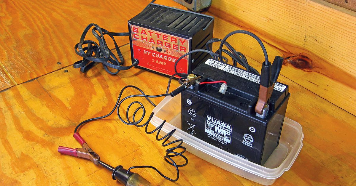 Tech Tip for Recharging Your Motorcycle Battery the Right