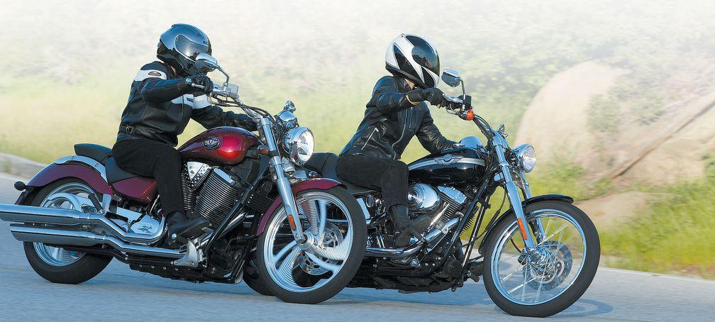Motorcycle Comparison Road Test: Harley-Davidson Softail Deuce Vs