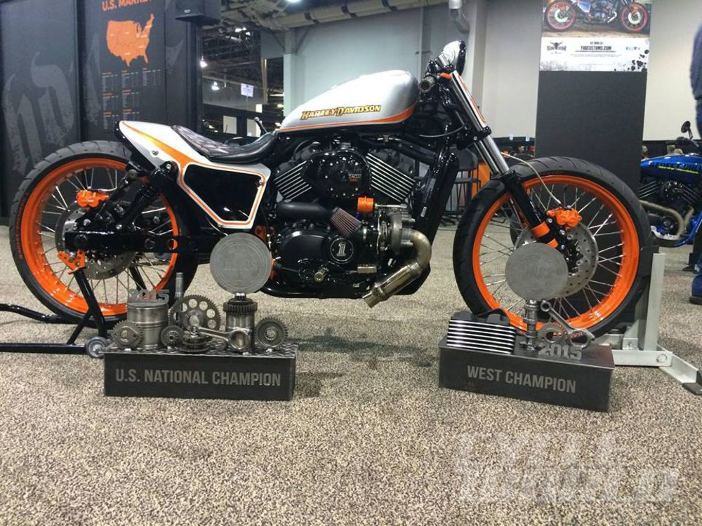 Another look at Yellowstone H-D's 2015 Street 750 winner, this time with a different paint job.