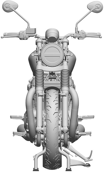 Double-cradle chassis design is likewise similar, with the same general layout as the standard Bonneville.
