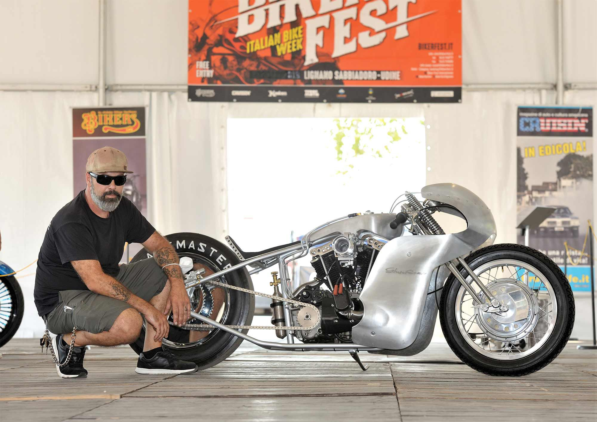 Taking Best of Show at the 2020 IMC Custom Bike Show Championship at Biker Fest was this Harley-Davidson 'Ghisarama' from Hazard.