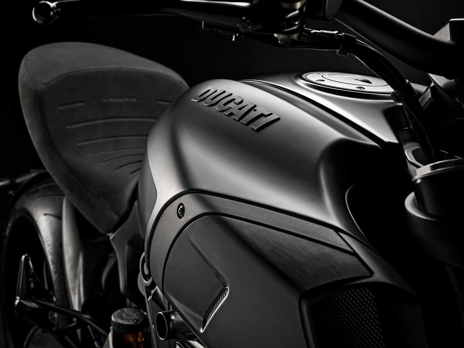 """Dark Stealth"" essentially means matte black for the main frame, with other components sporting different black finishes on the standard 1260 model."