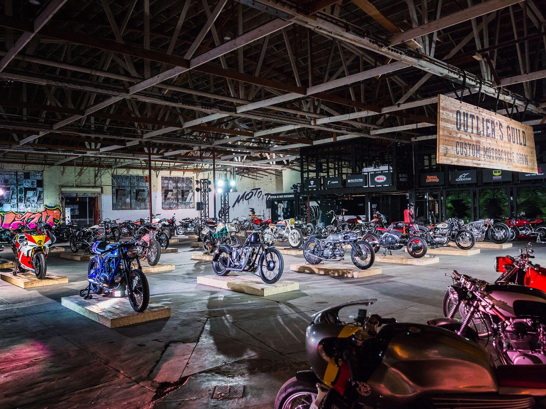 A wild assortment of customs, cafés, brats, classics—see it all under one roof.