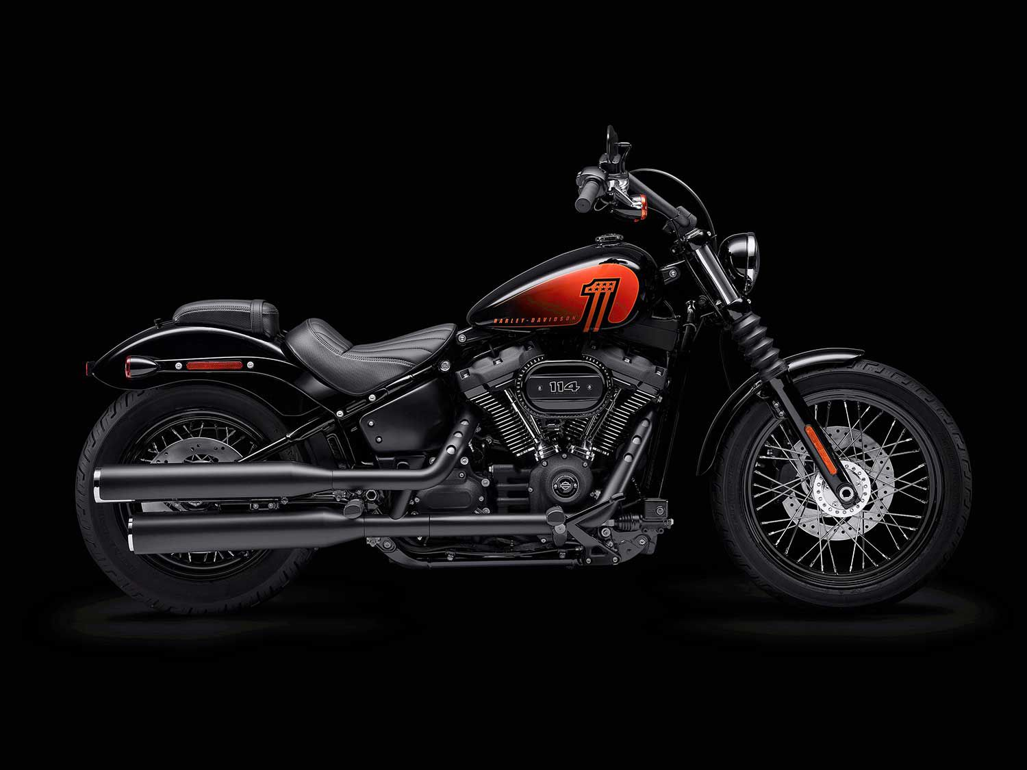 H-D slotted in the Street Bob 114 as a new model for 2021, and cut a few of its companions from the series to make room.