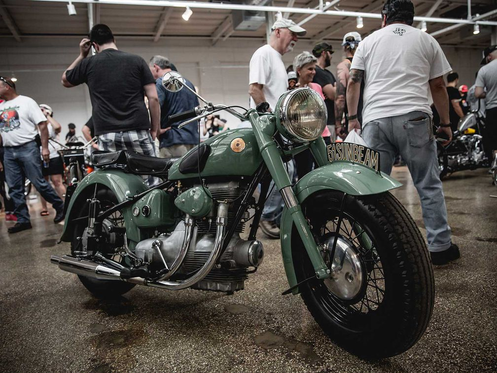 Choppers, Vintage, and Custom Motorcycles at Fuel Cleveland 2019