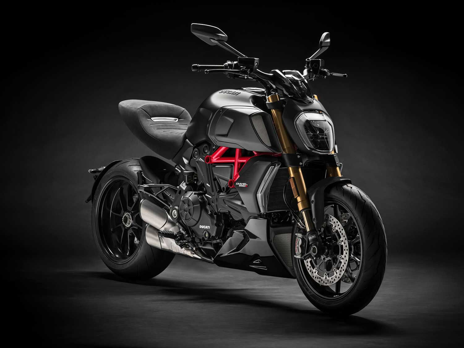 The Ducati Diavel 1260 S rolls with a Testastretta DVT 1262 engine and an edgier profile than its predecessor.