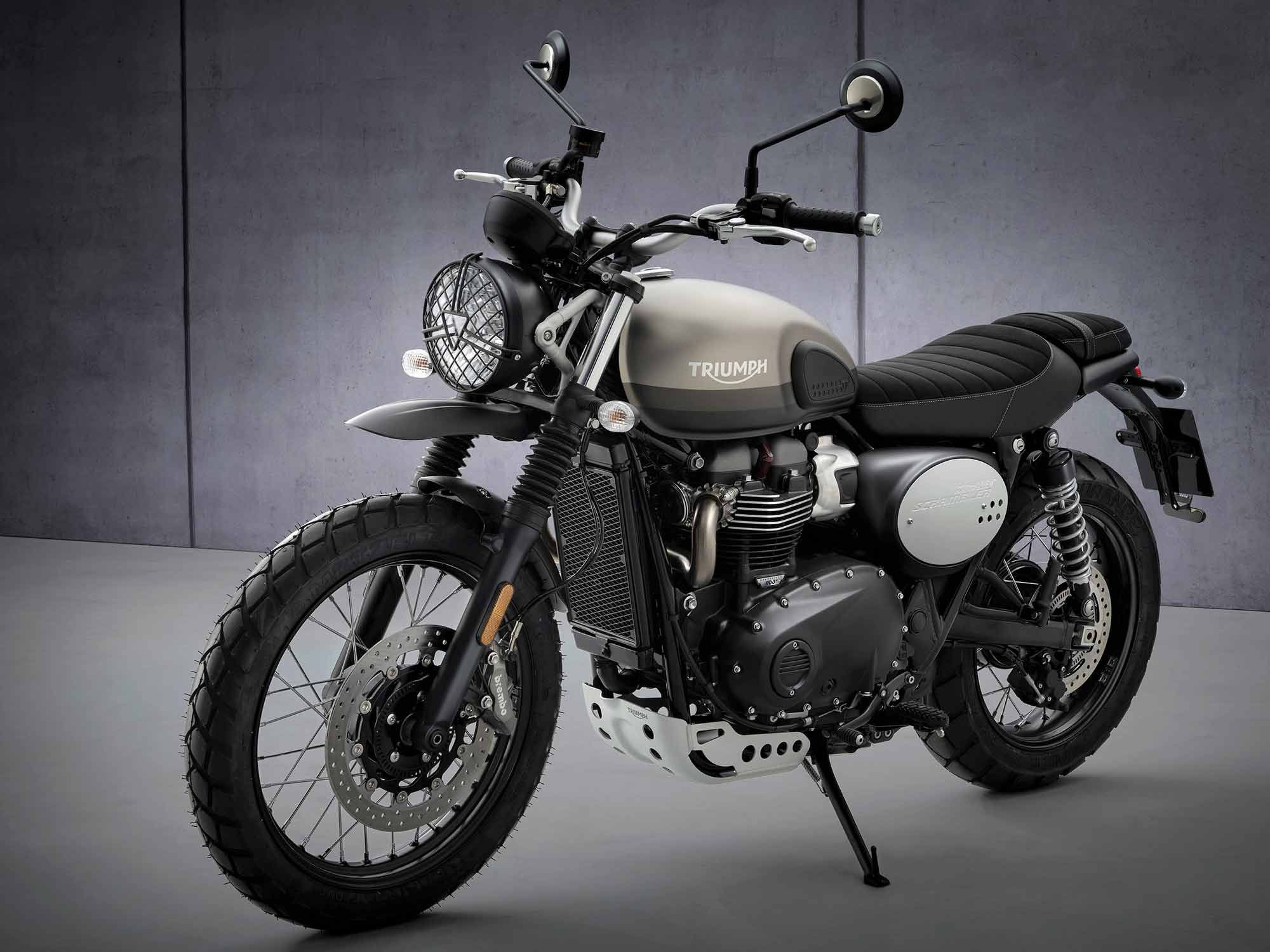 Triumph has updated its 900cc Street Scrambler for 2022, and added this new limited-edition Sandstorm model.