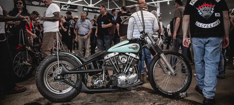 Choppers Vintage And Custom Motorcycles At Fuel Cleveland 2019 Motorcycle Cruiser
