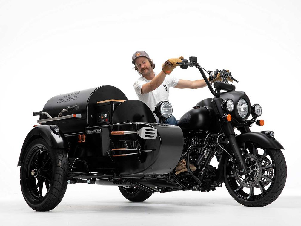 Indian And Traeger Team Up For A Wood-Fired Custom | Motorcycle Cruiser