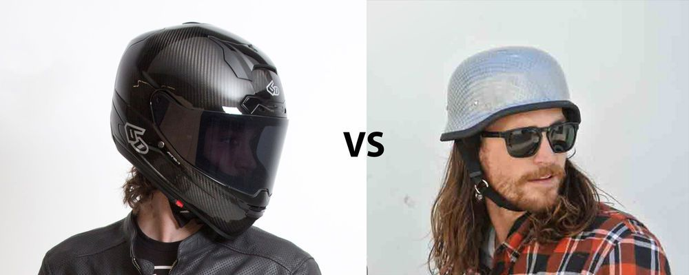 Full Face Cruiser Helmets >> Full Face Vs Open Face Helmets Motorcycle Cruiser
