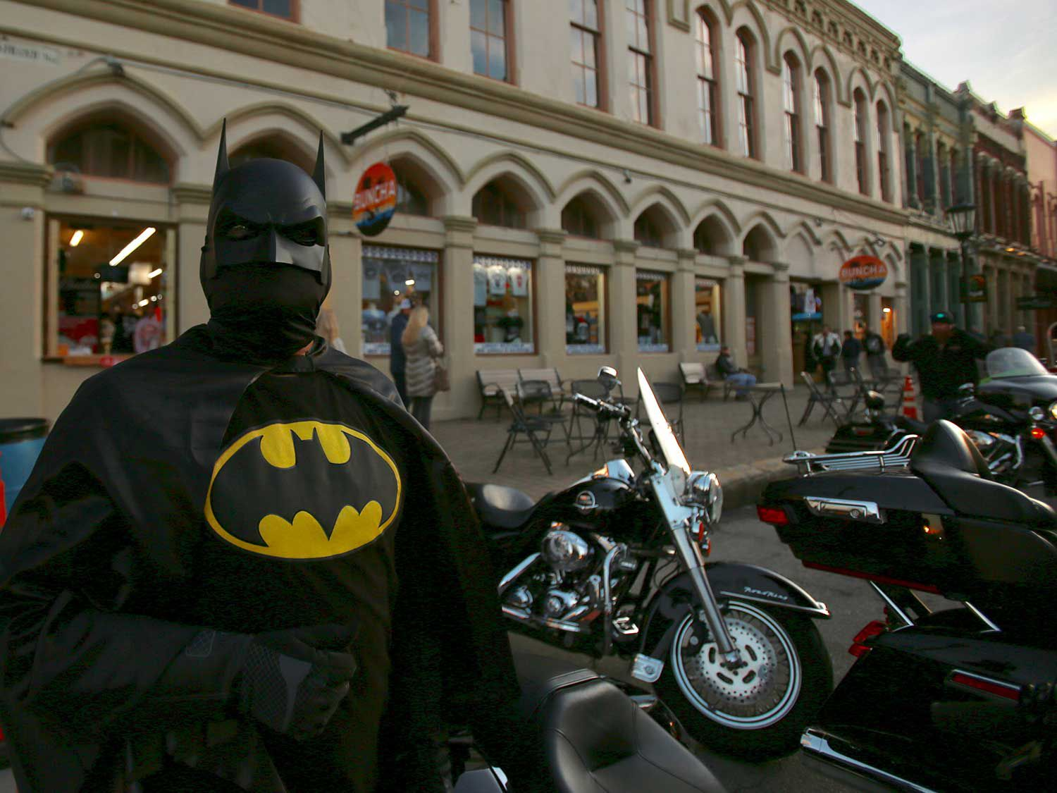 We were happy to see Batman, but had to wonder how well he could see through that mask…