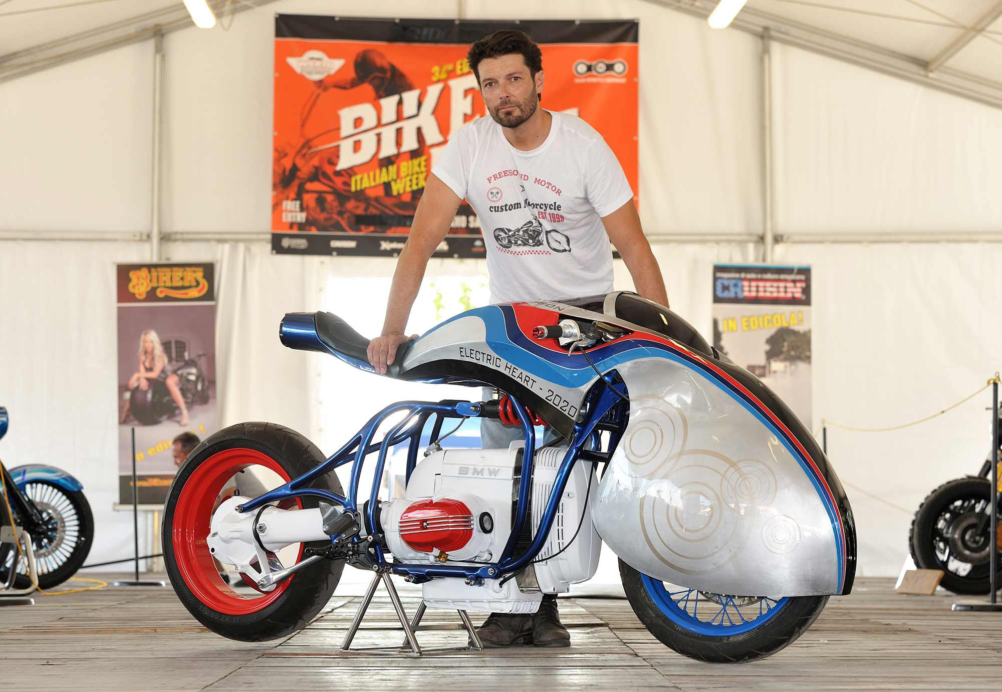 An electric BMW R65E build by Free Sound Customs also placed at the 2020 AMD Show at last year's Biker Fest.