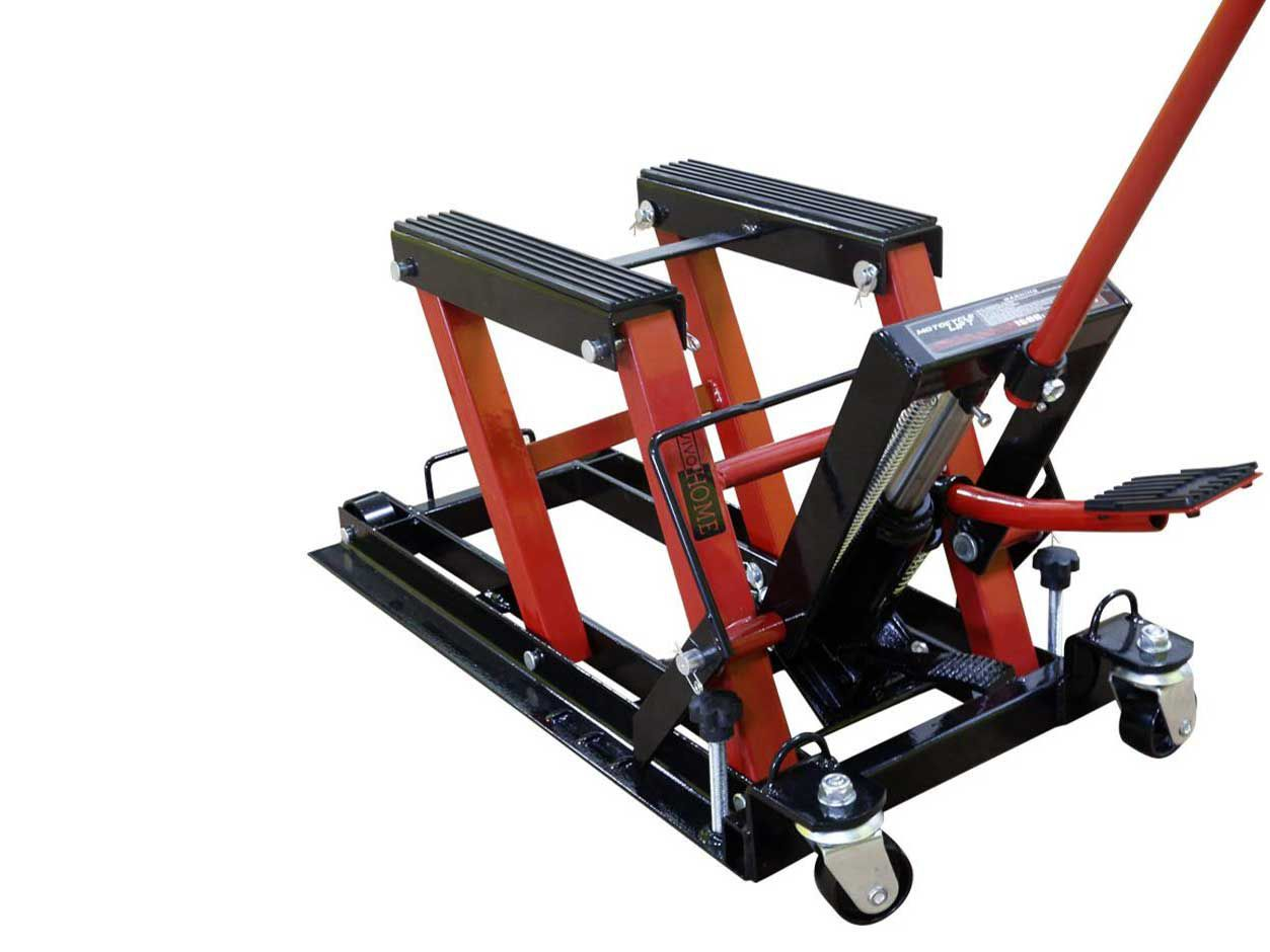 Easy operation with great load capacity, plus you can store it when you don't need it.