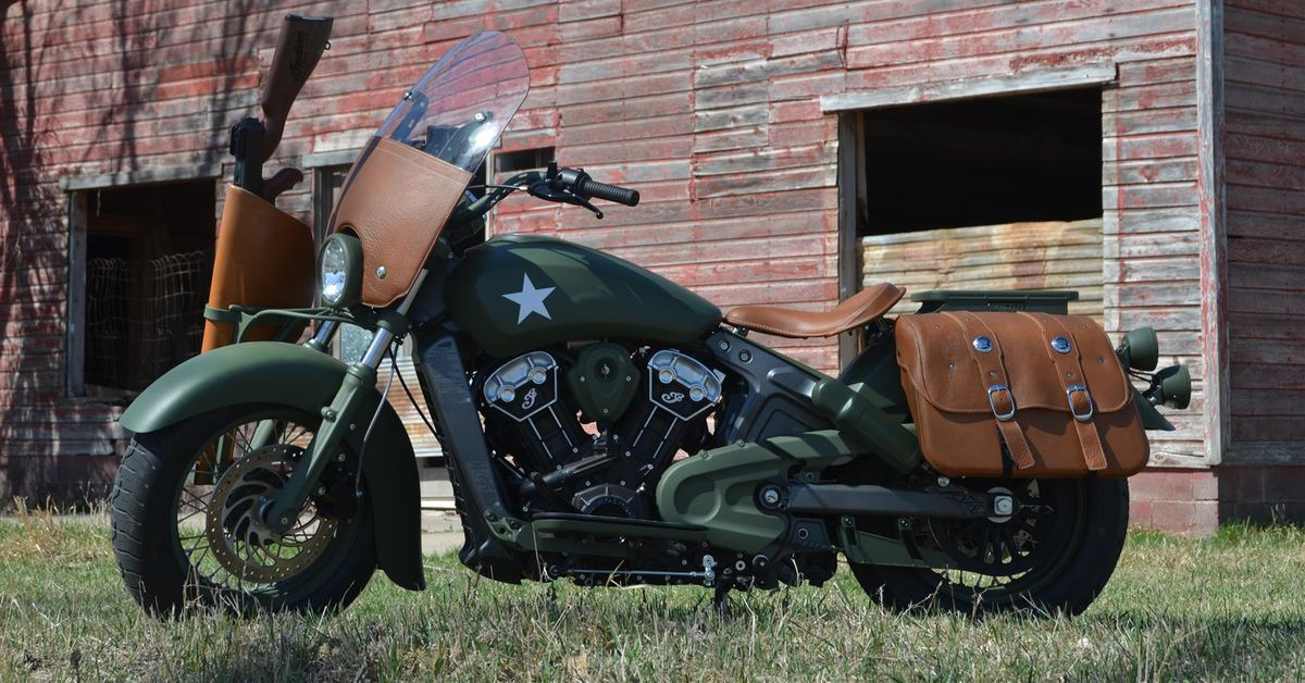 Indian Motorcycles Military Tribute Scout Motorcycle Cruiser