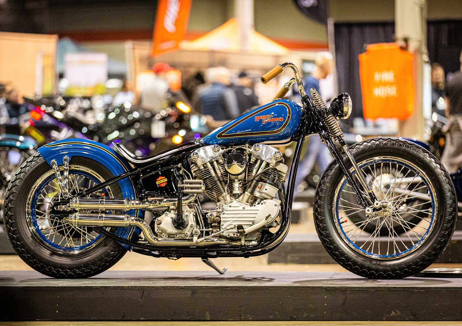 Jordan Dickinson of Union Speed and Style was crowned US champion (and Freestyle winner) for his 1947 Harley-Davidson Knucklehead, entirely handmade from raw materials, with a one-off frame and hand-hammered gas tank, fender, oil tank, and fender struts.